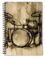Drum Spiral Notebooks