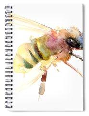 Honey Bee Spiral Notebooks