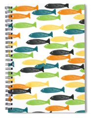 Fish Pond Spiral Notebooks