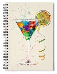 Martini Digital Art Spiral Notebooks