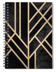 Art Deco Spiral Notebooks