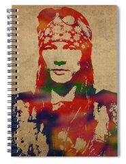 Axl Rose Spiral Notebooks
