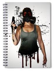 Guns Photographs Spiral Notebooks