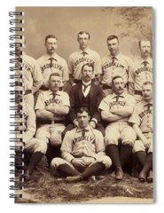 Brooklyn Dodgers Photographs Spiral Notebooks
