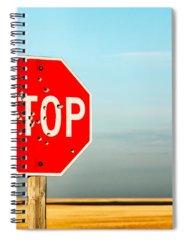 Traffic Signs Spiral Notebooks
