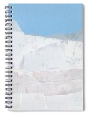 White Carrara Marble Spiral Notebooks