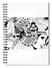 Organic Abstraction Drawings Spiral Notebooks