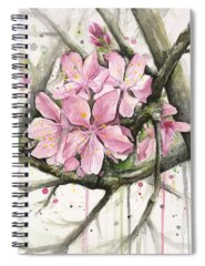 Blooming Tree Paintings Spiral Notebooks