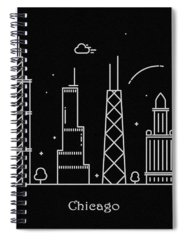 Hancock Tower Drawings Spiral Notebooks