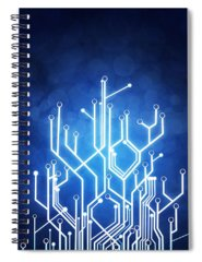 Abstraction Spiral Notebooks