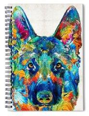 German Shepherd Spiral Notebooks