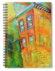 Building Paintings Spiral Notebooks