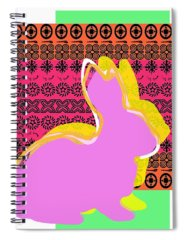 Bunny Paintings Spiral Notebooks