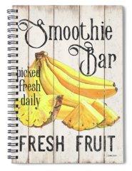 Banana Spiral Notebooks