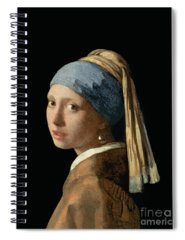 Young Woman Paintings Spiral Notebooks