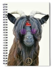 Farm Animals Digital Art Spiral Notebooks