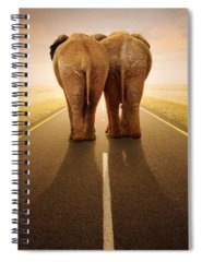 Leave Photographs Spiral Notebooks