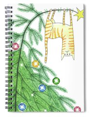 Winter Time Drawings Spiral Notebooks
