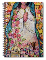 Our Lady Of Guadalupe Spiral Notebooks