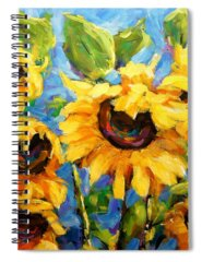 Floral Shower Curtain Paintings Spiral Notebooks