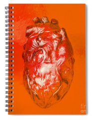 Muscle Tissue Digital Art Spiral Notebooks