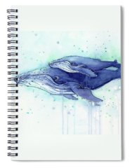 Whales Spiral Notebooks