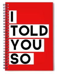 Red Digital Art Spiral Notebooks