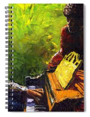 Charles Paintings Spiral Notebooks