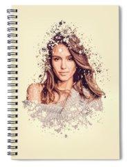 Jessica Alba Spiral Notebooks