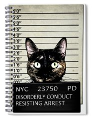 Kitty Spiral Notebooks