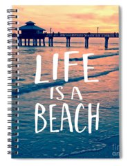Fort Myers Beach Photographs Spiral Notebooks