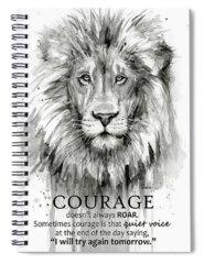 Lion Art Spiral Notebooks