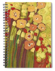 Floral Abstract Paintings Spiral Notebooks