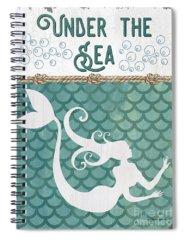 Mermaid Tail Spiral Notebooks