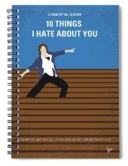 10 Spiral Notebooks