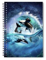 Violet Spiral Notebooks