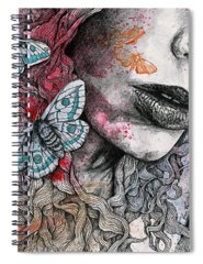 Lips Drawings Spiral Notebooks