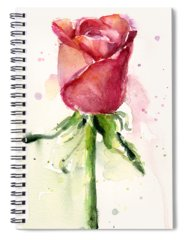 Pink Rose Spiral Notebooks