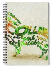 Rough Collie Spiral Notebooks