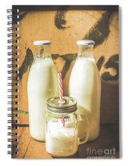 Milk Product Spiral Notebooks