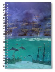Cross-section Mixed Media Spiral Notebooks