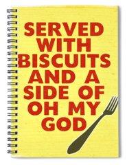 Food Digital Art Spiral Notebooks