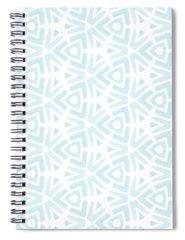 Aqua Digital Art Spiral Notebooks