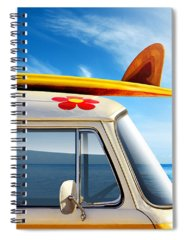 Surfboard Spiral Notebooks