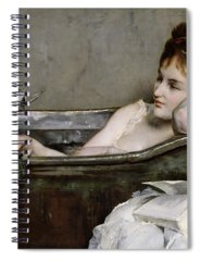 Naked Woman Paintings Spiral Notebooks
