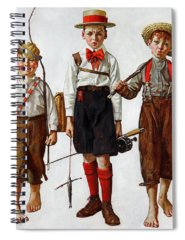 Norman Rockwell Paintings Spiral Notebooks