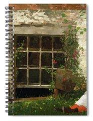 Garden Wall Paintings Spiral Notebooks