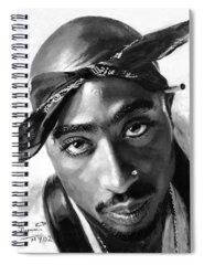 Rapper Tupac Spiral Notebooks