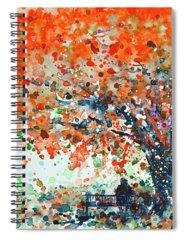 Flamboyant Tree Spiral Notebooks