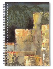 Linear Paintings Spiral Notebooks